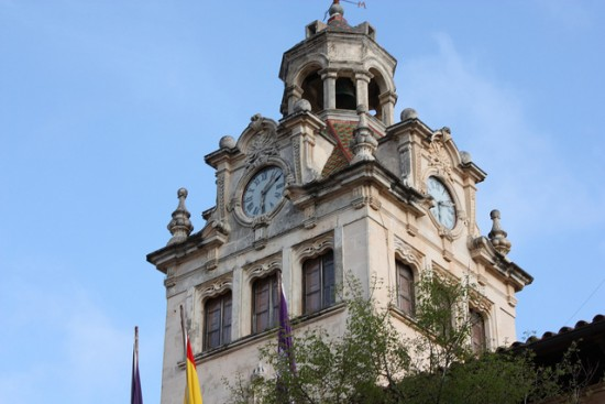 Clock tower of Alcudia town hall