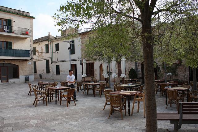 Quiet Piazza (Square) in Alcudia