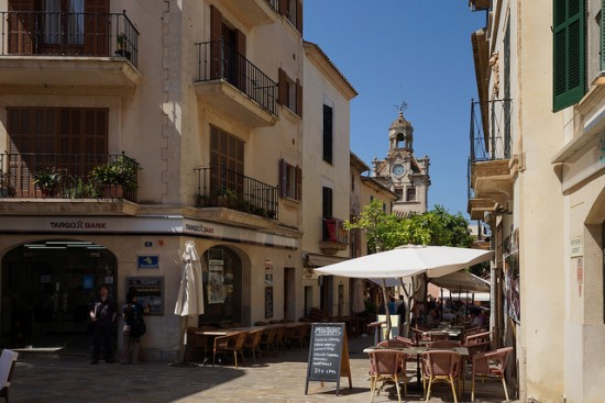 Small cafe in old town in Alcudia