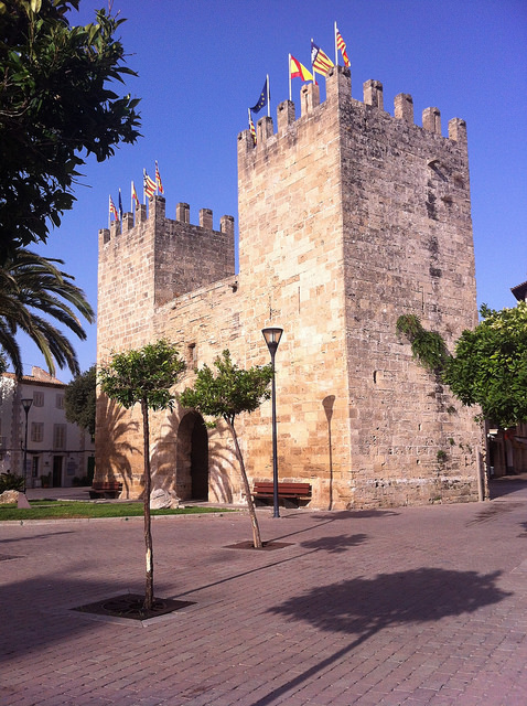 Old town gate (Del Port Gate) in Alcudia